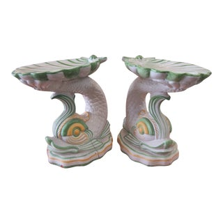 1970s Seashell & Koi Fish Garden Tables - a Pair For Sale