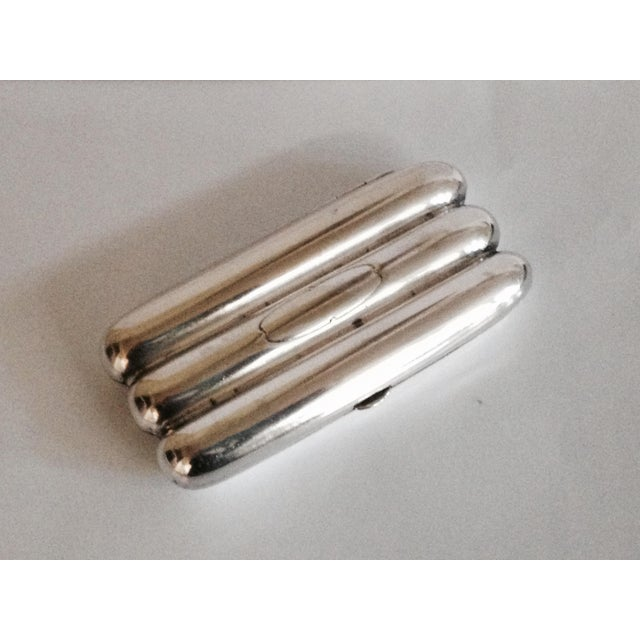Silver Plated Cigar Case - Image 3 of 4