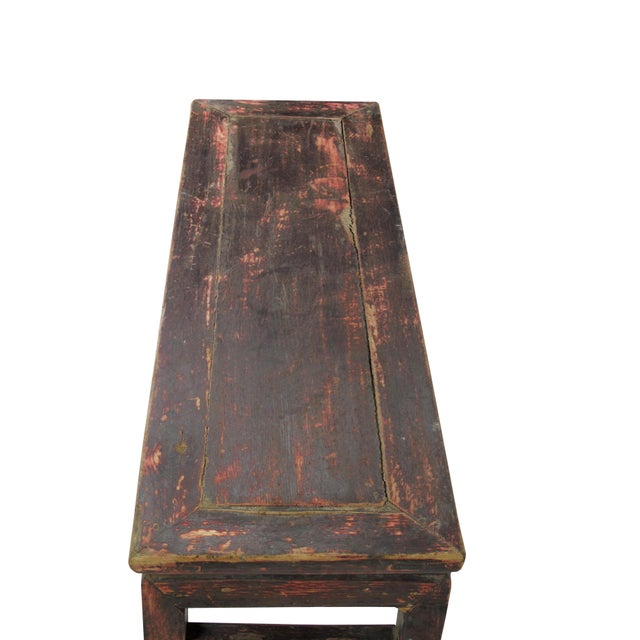 Rustic Shandong Elm Bench For Sale In Boston - Image 6 of 7