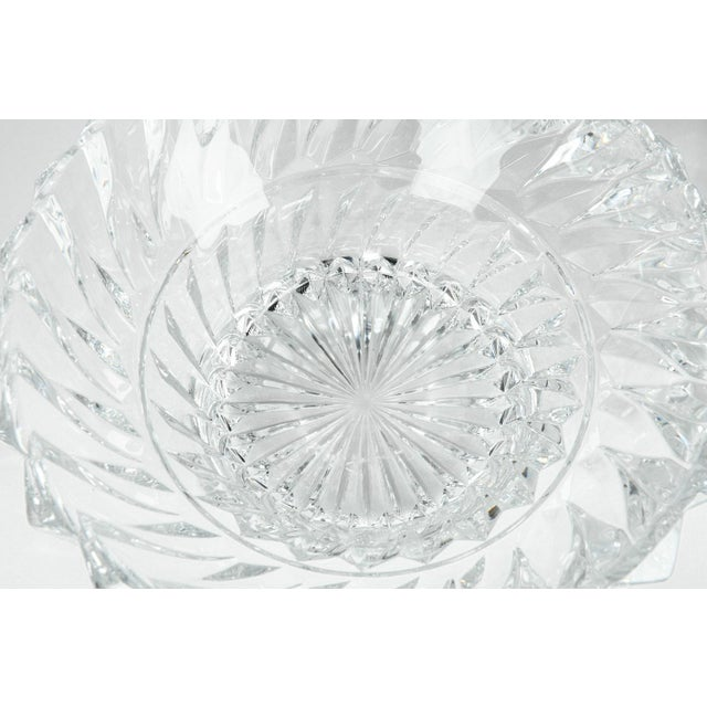 Vintage Pair Heavy Cut Crystal Bowl For Sale - Image 10 of 11