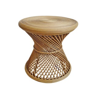 Bamboo Twist Round Side Table For Sale