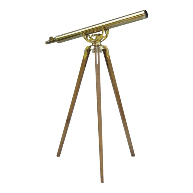 20th Century English Traditional Baush & Lomb Brass Telescope For Sale