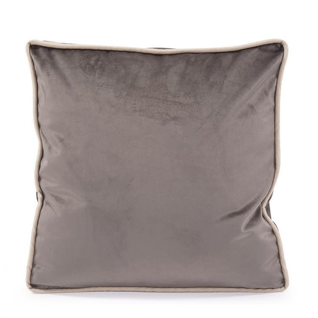 """The 20"""" Gusseted Bella Pewter Velvet Pillow Taking square pillows to the next level. Meet our new Bella Gusseted Pillow...."""
