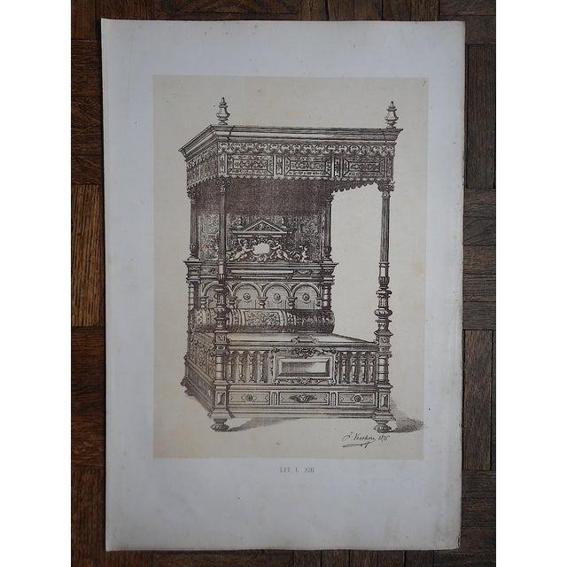Antique Folio Size Furniture Lithograph - Image 3 of 3