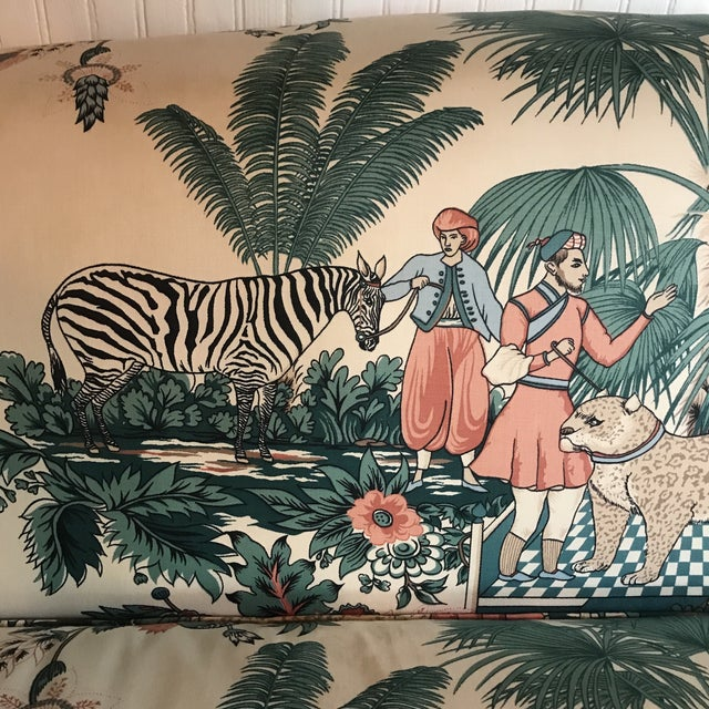 Pearson 1980s Vintage Pearson British West Indies Jungle Print Sofa For Sale - Image 4 of 13