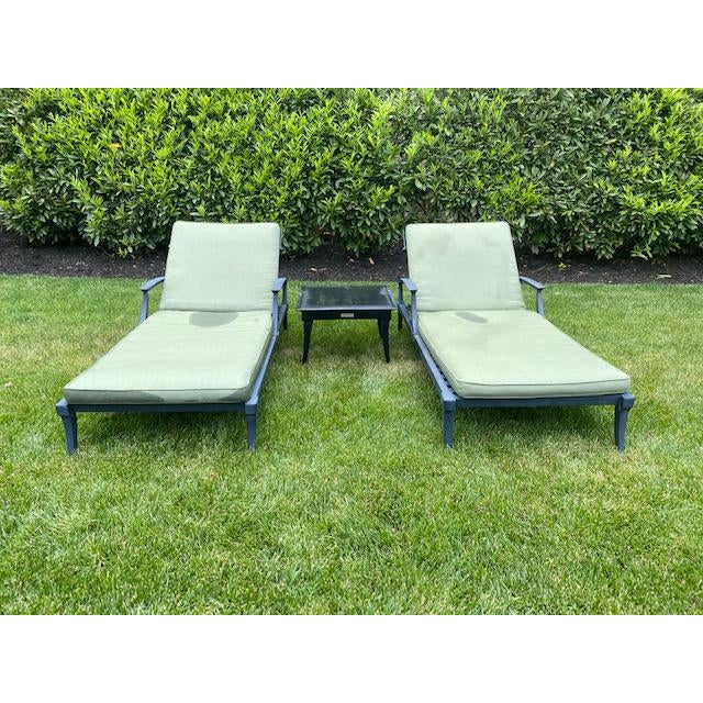 Restoration Hardware Klismos Chaise Lounge Chairs With Square Side Table- 3 Pieces For Sale In Philadelphia - Image 6 of 6