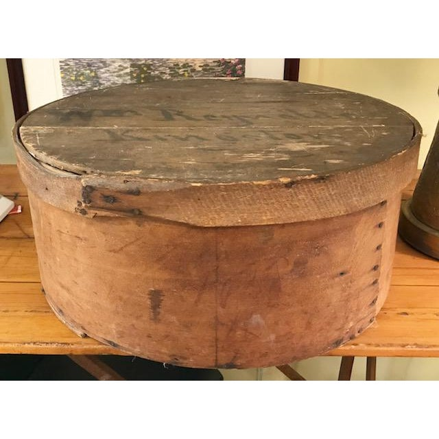 Large Antique Wood Box - Historic Kingston Ny For Sale In New York - Image 6 of 11