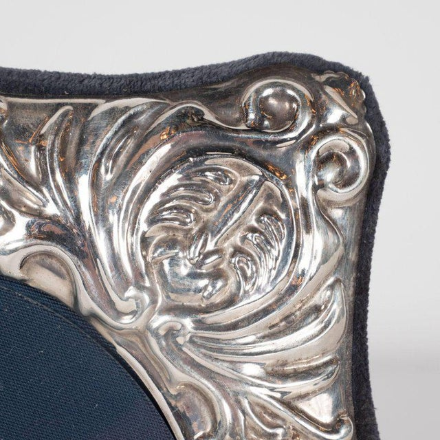 19th Century British Sterling Silver Picture Frame with Repoussé Baroque Designs For Sale In New York - Image 6 of 8