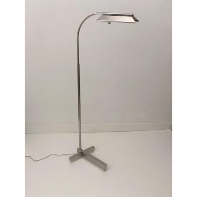 Casella Floor Lamp Nickel Plated For Sale - Image 10 of 10