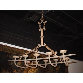 Antique Forged Iron Chandelier From France Preview