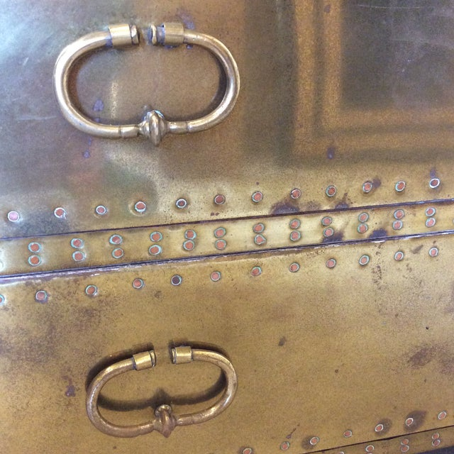Sarreid Brass Chests Trunks- A Pair - Image 10 of 11