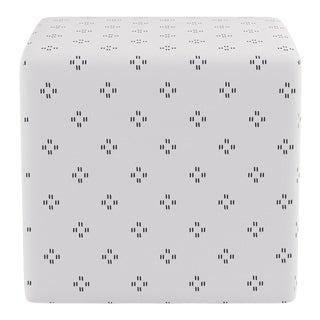 Cube Ottoman in Grey Faro For Sale