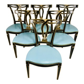 1950s Vintage Beacon Hill Regency Style Dining Chairs - Set of 6 For Sale