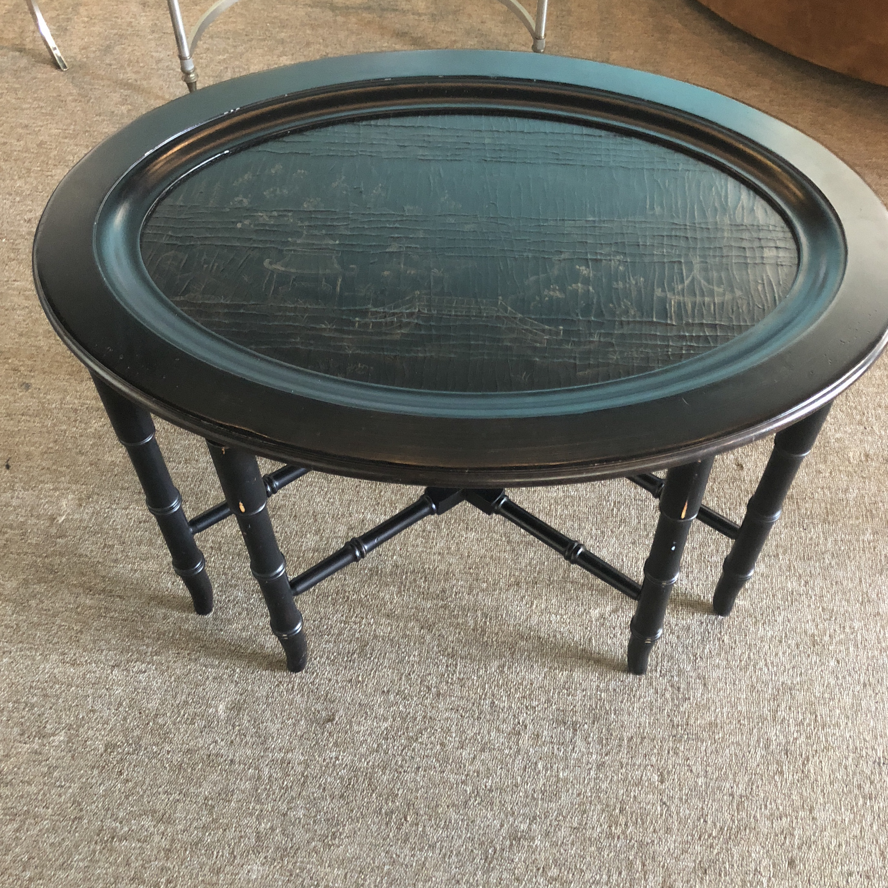 Vintage Chinoiserie Style Lift Off Tray Table From Ethan Allen. Good  Quality With Nice Faux