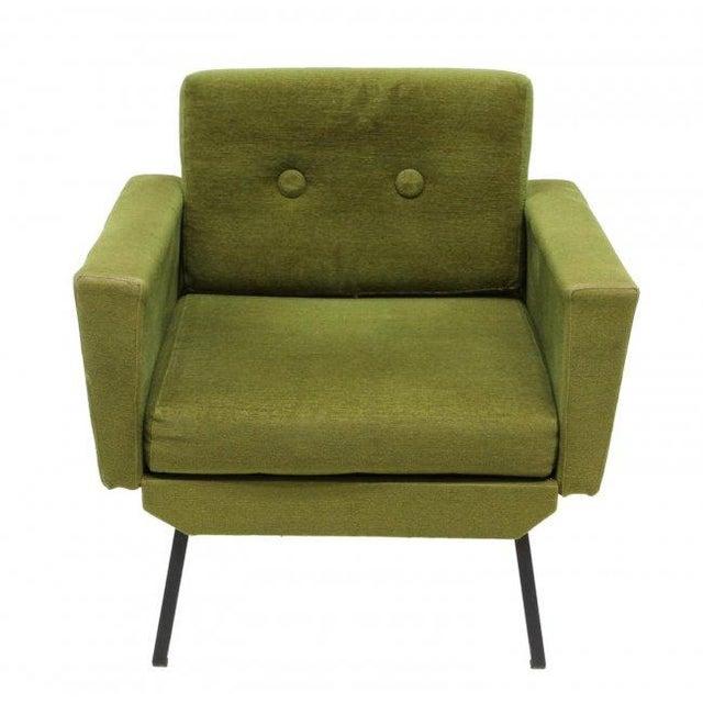 Italian Mid Century Modern Club Chairs - Pair - Image 3 of 5