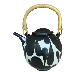 Asian Modern Sam Scott Studio Pottery Teapot For Sale