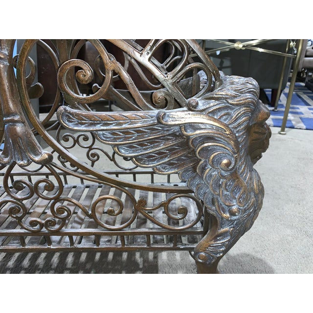 Regency Style Bronzed Magazine Rack With Scrolled Design Lion Supports - Gorgeous & Heavy Addition to Store All Your Books...