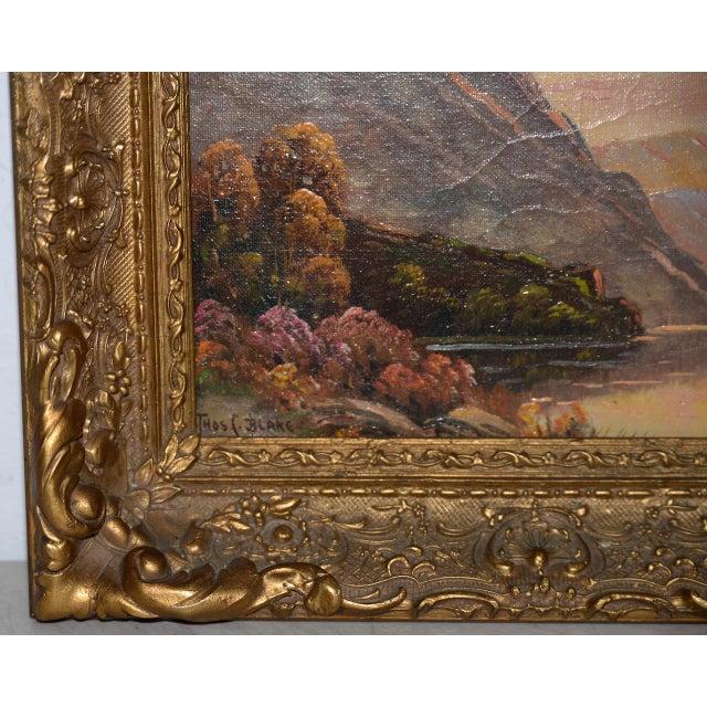 Thomas C. Blake Luminous Mountain Landscape Oil Painting C.1920 For Sale In San Francisco - Image 6 of 8