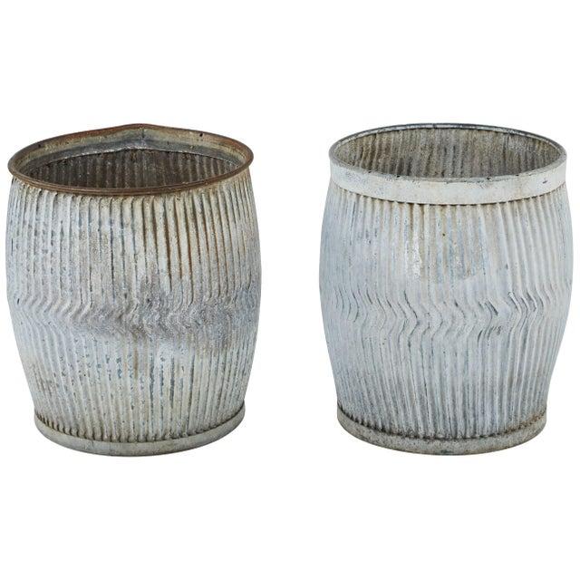 1990s English Zinc Garden Pots - a Pair For Sale - Image 10 of 10