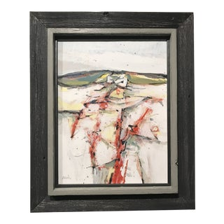 """Mid-Century Modern Painting """"White Blank"""" 1968 For Sale"""