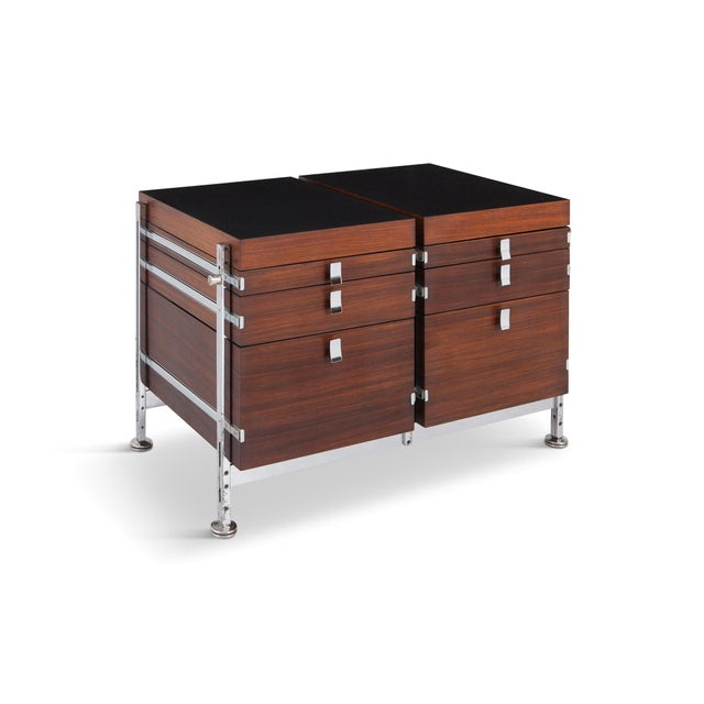 Jules Wabbes Mahogany Double Chest of Drawers for Mobilier Universel For Sale - Image 10 of 10