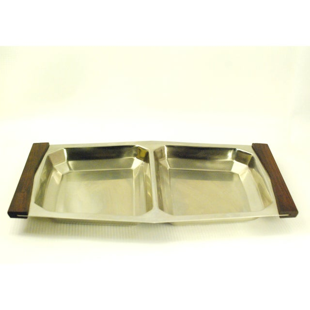 Mid-Century Modern Mid-Century Modern Stelton Stainless Tray For Sale - Image 3 of 7