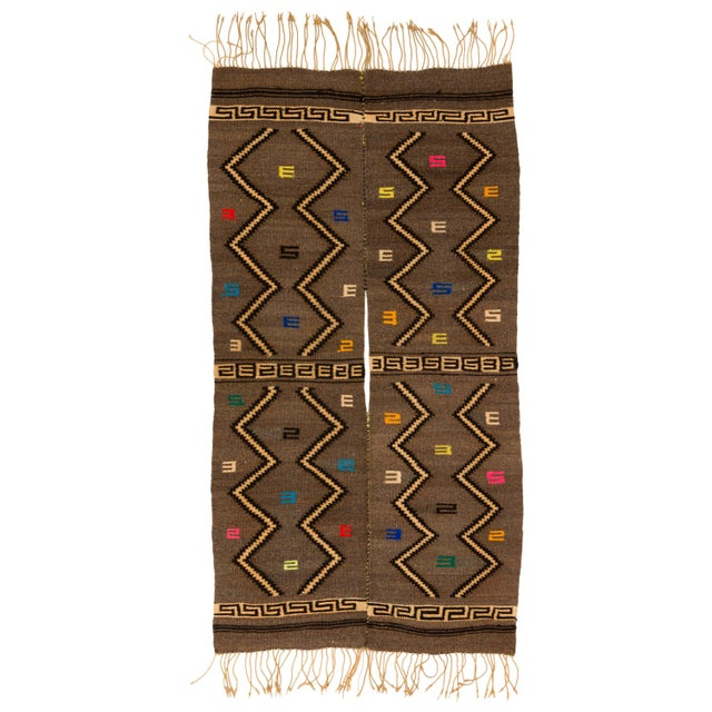 Mixtec Cloud and Thunder Symbol Serape Blanket Oaxaca Mexico For Sale In New York - Image 6 of 6