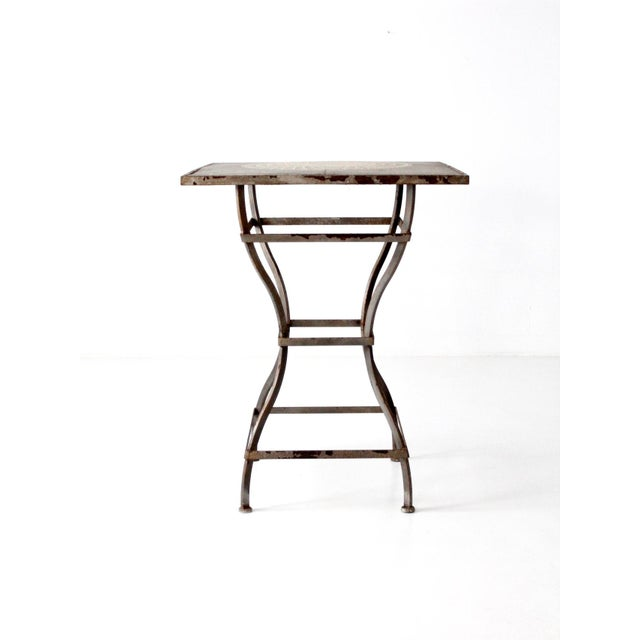 Vintage Mosaic Tall Patio Table - Image 2 of 11