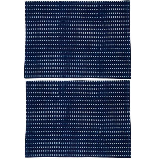 Nisha Placemats Indigo - A Pair For Sale - Image 4 of 4