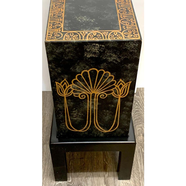 Grand Tour Style Polychromed Greek Motif Cabinet on Stand For Sale - Image 11 of 13