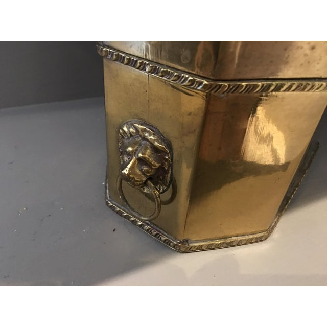 Antique Brass Lions Head Box - Image 3 of 4