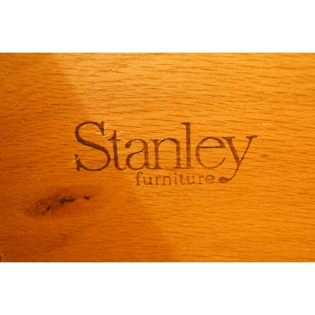 """Stanley Furniture Italian Provincial Green Tint Finish 43"""" Door Chest / Armoire For Sale - Image 10 of 13"""