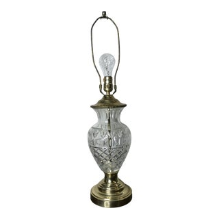 1970s Cut Pineapple Crystal Lamp For Sale