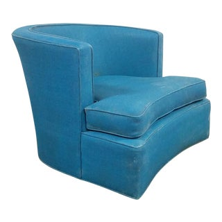Mid Century Harvey Probber Bowed Front Swivel Chair For Sale
