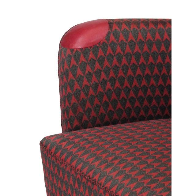Red 1937 A.J. Iversen for Kaj Gottlob Deco Lounge Chair Original Fabric For Sale - Image 8 of 9