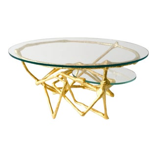 Linear Downfall Cocktail Table by Zuckerhosen For Sale