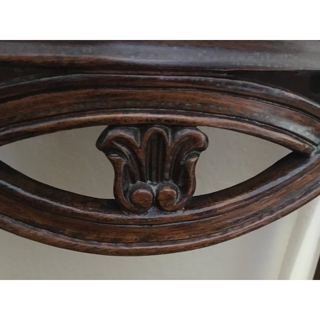 French Country Wooden Entry Table - Image 3 of 5