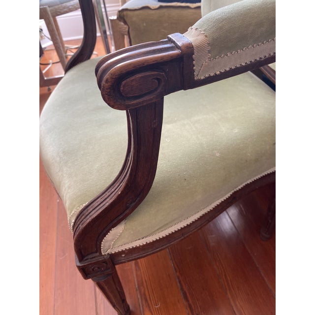 18th Century 18th Century Arched Back French Fauteuils - a Pair For Sale - Image 5 of 6