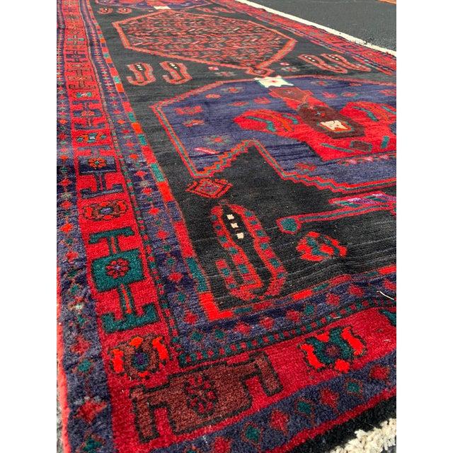 Islamic 1960s Vintage Persian Bijar Runner Rug - 4′3″ × 11′4″ For Sale - Image 3 of 13