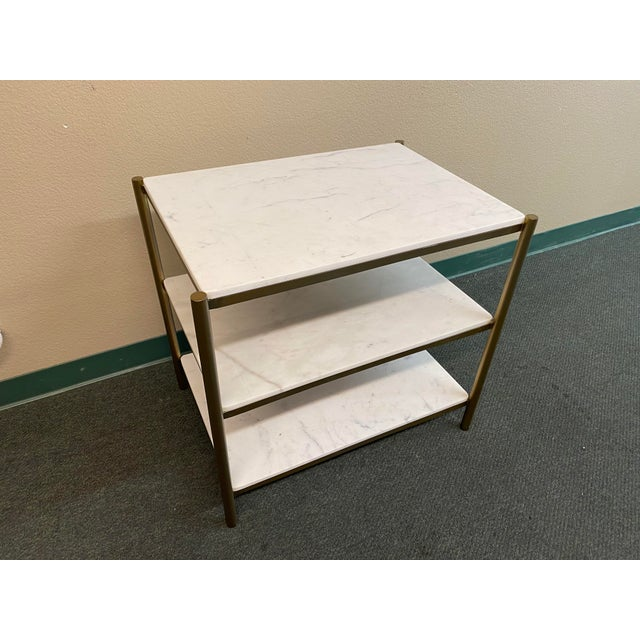 Mid-Century Modern New Alder & Tweed Hollywood End Table For Sale - Image 3 of 11
