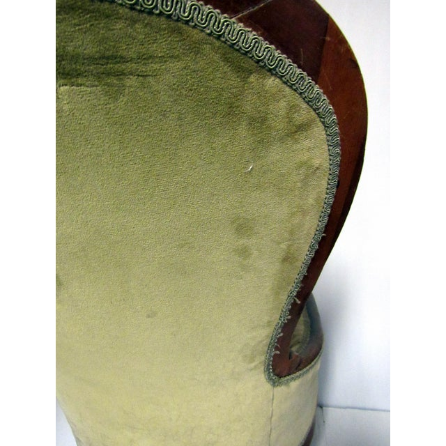 Victorian Chair With Green Velvet Upholstery - Image 10 of 11