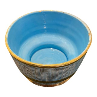 Vintage Italian Pottery Planter Bowl in the Style of Aldo Londi For Sale
