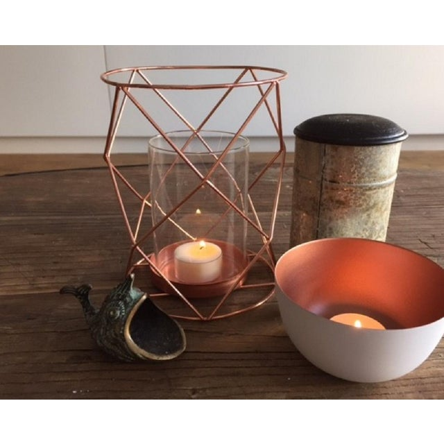 Copper Candle Coffee Table Display - Pair - Image 3 of 6