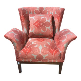 Walter E Smithe Wing Back Arm Chair For Sale