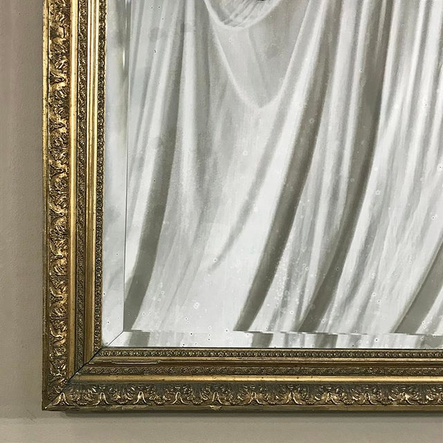 19th Century French Louis XVI Gilded Mirror For Sale - Image 10 of 12
