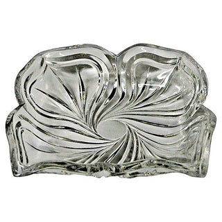 Clear Cut Crystal Catchall For Sale
