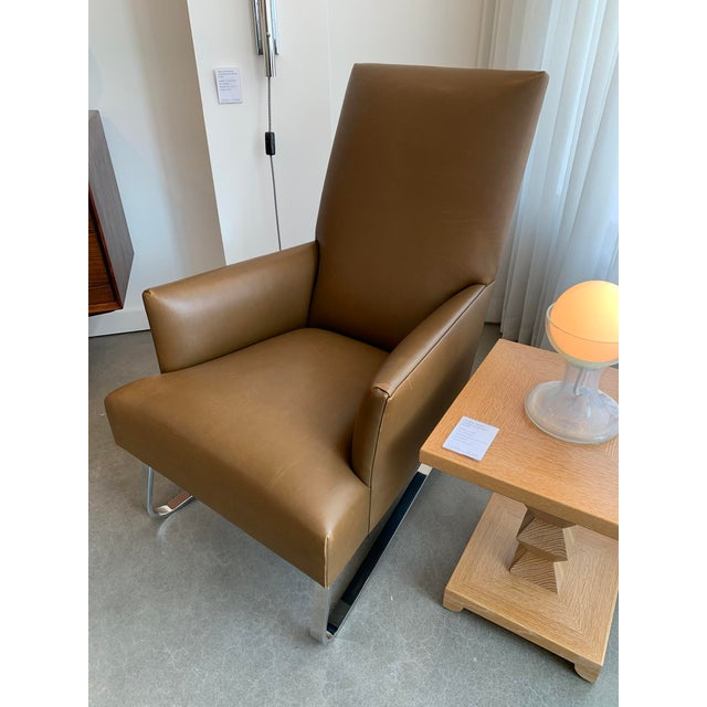 Amazing Donghia High Back Leather Odeon Lounge Chair Evergreenethics Interior Chair Design Evergreenethicsorg