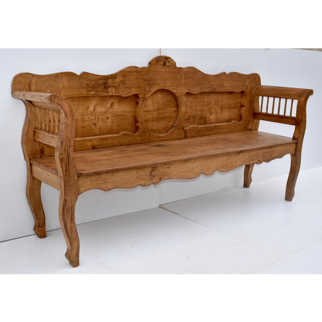 Late 19th Century Pine and Oak Bench or Settle For Sale - Image 5 of 13