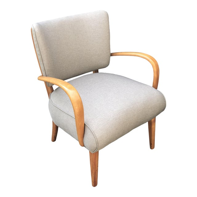 Mid Century Modern Heywood Wakefield Birch Frame Arm Chair For Sale