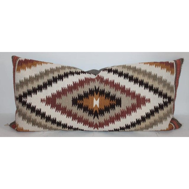Boho Chic Navajo Indian Weaving Saddle Blanket Pillows - Set of 2 For Sale - Image 3 of 9